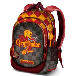 Harry Potter Gryffindor School Bag Reppu Laukku USB Port + Badge 44cm