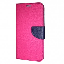 Sony Xperia 10 Plus Cover Fancy Wallet Case + Wrist Strap Pink-Navy