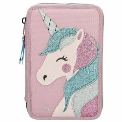 Ylvi and the Minimoomis Unicorn Naya Glitter 44-pieces Penaaleita Triple Set Pencil Case