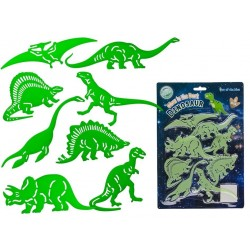 8-Pack Dinosaur Fluorescent Glow In The Dark Decoration