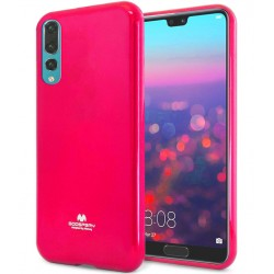 GOOSPERY Mercury Pearl Jelly Case Huawei P20 Pro Soft TPU Cover Hot Pink
