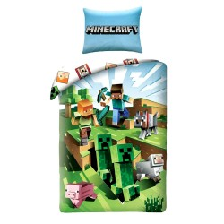 Minecraft Battle Bed linen Duvet Cover 140x200 + 70x90cm