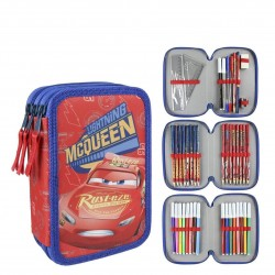 43-pieces Cars Lightning McQueen Triple School Set 3D Filled Pencil Case