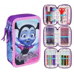 Disney Vampirina 43-pieces Triple School Set Filled Pencil Case