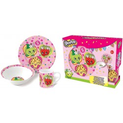 Shopkins Frukostset 3i1 Måltidsset Gåvo-set Keramik Shopkins Dinner set 10508 Shopkins 199,00 kr