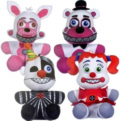 4-Pack Five Nights at Freddy's Sister Location Plysdyr Legetøj Plush 25-30cm