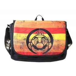 Super Mario Retro Striped Messenger Bag Olkalaukku Shoulder School Bag 42cm
