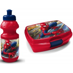 Marvel Spiderman Lunch Box And Bottle Blue/Red