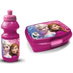 Frozen Frost Anna Elsa Olaf Lunch Box And Bottle Pink