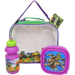 Turtles Shoulder Bag With Lunch Box And Water Bottle
