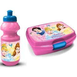 Disney Princess Lunch Box And Bottle Pink