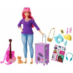 Barbie Travel Daisy Doll Doll With Accessories & Stickers 30cm
