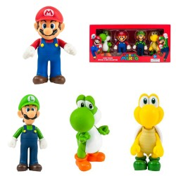 Super Mario Large Figure 4-Pack Collection Mario, Luigi, Yoshi & Koopa.