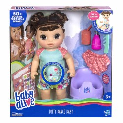 Baby Alive Potty Dance Baby Brunette Hair Interaktiv Docka 35cm Baby Alive Potty Dance E0610 Baby Alive 649,00 kr