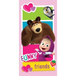Masha And The Bear Funny Friends Kids Towel 140*70 cm