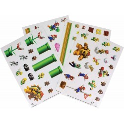 Super Mario Gadget Decals 90pcs Re-usable Stickers