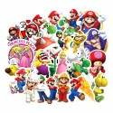 50pcs Super Mario Gadget Stickers Set Vinyl Re-usable