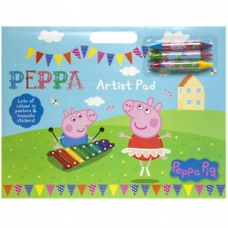 Peppa Pig Artist Pad Colouring Activity Book A3 With Stickers