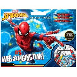 Spiderman Artist Pad A3 Colouring Activity Book With Stickers