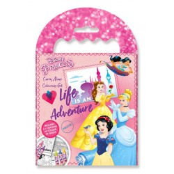 Disney Princess Carry Along Colouring Set Crayon Drawing Travel Pack