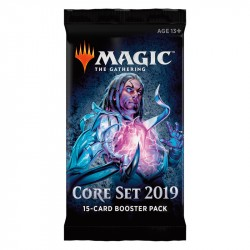 Magic The Gathering: Core Set 2019 Booster 1-Pack. kort