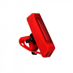 Bright bicycle LED rear lamp for rechargeable via USB! RED