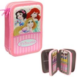Disney Princess 38-pieces Penaaleita Triple School Pencil Case