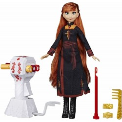 Frozen 2 Sister Styles Anna Doll With Extra-Long Red Hair & Braiding Tool