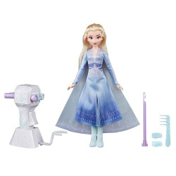Frozen 2 Sister Styles Elsa Doll With Extra-Long Blonde Hair & Braiding Tool