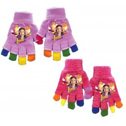 2-Pairs Disney Soy Luna Rainbow Gloves Children Mittens One Size