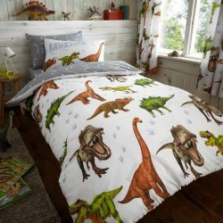 Dinosaur Rawrsome Bed Linen Single Duvet Cover Set 137x200 cm