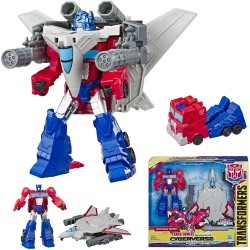 Transformers 2in1 Cyberverse Spark Armor Optimus Prime Action Figure