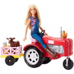 Barbie Doll And Tractor Farmer