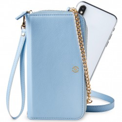 "Celly - Mobile Case - Pochette Elegant Max 6.5 "" Light Blue"