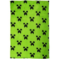 Minecraft Emerald Ready Fleece Tæppe 100x150 cm