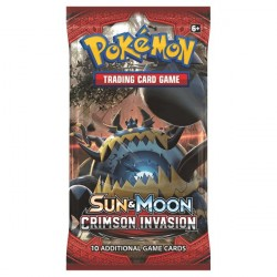 Pokemon S&M Crimson Invasion Booster Pack Cards 1-Pack