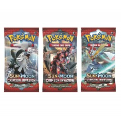 Pokemon S&M Crimson Invasion Booster Pack Cards 3-Pack