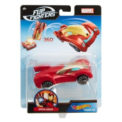 Hot Wheels Marvel Flip Fighters Car Iron Man Avengers 11cm