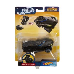 Hot Wheels Marvel Flip Fighters Car Black Panther Avengers 11cm