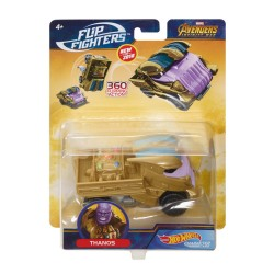 Hot Wheels Marvel Flip Fighters Car Thanos Avengers 11cm