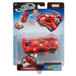 Hot Wheels Marvel Flip Fighters Car Spider-Man Avengers 11cm