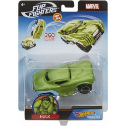 Hot Wheels Marvel Flip Fighters Car Hulk Avengers 11cm