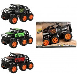 Monster Truck 6x6 With 6 Wheels Friction Power Legetøjsbil 20cm