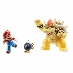 Super Mario 3-Pack Bowser's Lava Battle Set Playset Figure