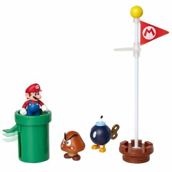 Super Mario 5-Pack Acorn Plains Diorama Set Figures Playset
