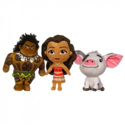 3-Pack Disney Vaiana/Moana Maui Pua 30cm Doll Plush Large Plush Toy