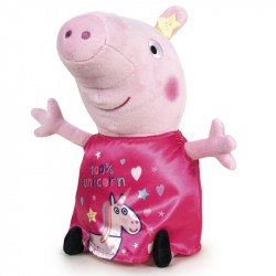 Peppa Pig 100% Unicorn Large Plush Toy Pehmo 45cm Pink