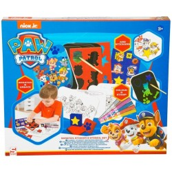 Paw Patrol Scratch, Stencil & Sticker Set