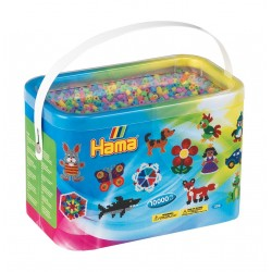 Hama Beads 10,000 Beads in a Bucket Pastel Mix Midi