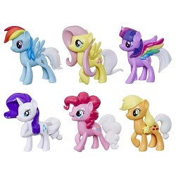 My Little Pony Toy Rainbow Tail Surprise 6 Ponies Collection Figure